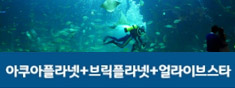 [특별할인종합권/BIG3]일산 아쿠아플라넷+브릭플라넷+얼라이브스타